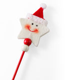 Smiling Star-Shaped Christmas Decoration Stock Photos