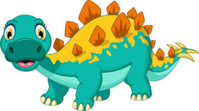 Smiling stegosaurus cartoon posing Royalty Free Stock Photos