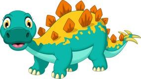 Smiling stegosaurus cartoon posing. Illustration of smiling stegosaurus cartoon posing Royalty Free Stock Photos