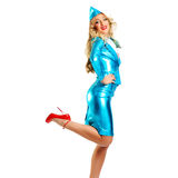 Smiling stewardess Royalty Free Stock Photos