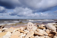 Smiling Stone Stock Images