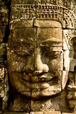 Smiling Stone Faces In The Temple Stock Photo