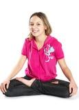 Smiling stratching tennage girl Stock Image