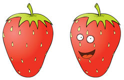 Smiling strawberry Stock Photography
