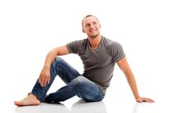 Strong casually dressed man Stock Image