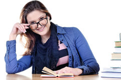 Smiling student with books at Royalty Free Stock Image