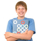 Smiling student with colorful books Royalty Free Stock Photography