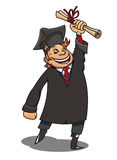 Smiling student with diploma Royalty Free Stock Images