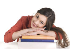 Smiling student girl with books Stock Photography