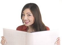 Smiling student girl with books Royalty Free Stock Photos