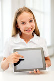 Smiling student girl with tablet pc computer Royalty Free Stock Images
