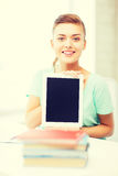 Smiling student girl with tablet pc Royalty Free Stock Image