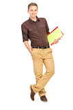 Smiling student leaning Royalty Free Stock Photography