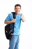 Smiling  student man Royalty Free Stock Photos