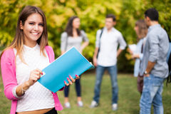 Smiling student portrait Royalty Free Stock Photography
