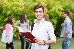 Smiling student portrait at the park Stock Photography