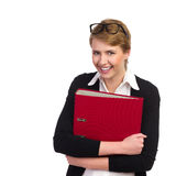 Smiling student with ring binder. Stock Photography