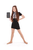 Smiling student teenage girl with tablet pc Royalty Free Stock Photo