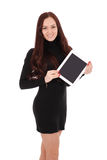 Smiling student teenage girl with tablet pc Royalty Free Stock Image