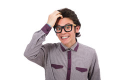 Smiling student on white Stock Image
