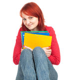 Smiling student woman Stock Photo