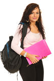 Smiling student woman Stock Images