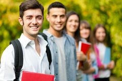 Smiling students group Stock Images