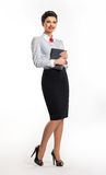Smiling stylish teacher with notepad - education Stock Photography