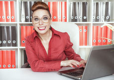 Smiling success business woman Stock Photos