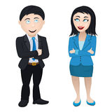 Smiling and successful business workforce couple Royalty Free Stock Image