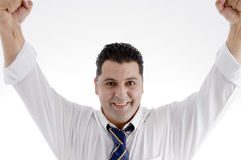 Smiling successful businessman Stock Photo