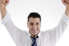 Smiling successful businessman. Portrait of smiling successful businessman on  an isolated white background Stock Photo
