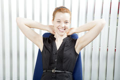 Smiling successful businesswoman Stock Photo