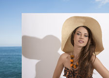 Smiling with summer style Stock Images