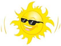 Smiling summer sun Stock Photography