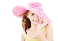 Smiling summer young woman Royalty Free Stock Image