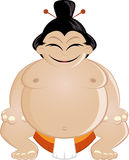Smiling sumo wrestler Royalty Free Stock Photos