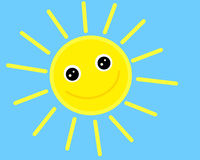 Free Smiling Sun Royalty Free Stock Images - 13956269