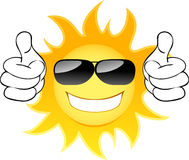 Smiling sun. With glasses. Vector illustration Stock Image