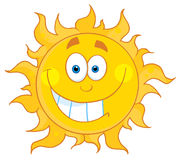 Smiling sun Royalty Free Stock Images