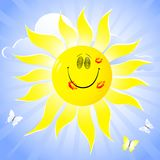 Smiling sun. Stock Image