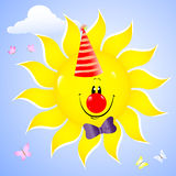 Smiling sun. Royalty Free Stock Photography