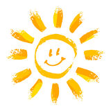 Smiling sun Royalty Free Stock Photos