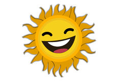 Smiling Sun Cartoon Character Stock Photos