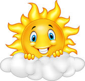 Smiling Sun Cartoon Mascot Character Stock Photos