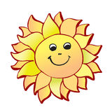 The smiling sun Royalty Free Stock Image