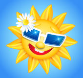 Smiling sun in glasses Royalty Free Stock Image