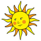Smiling sun Royalty Free Stock Photography