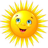 Smiling sun. Illustration of smiling sun character vector illustration