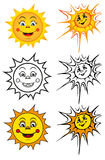 Smiling sun Stock Image